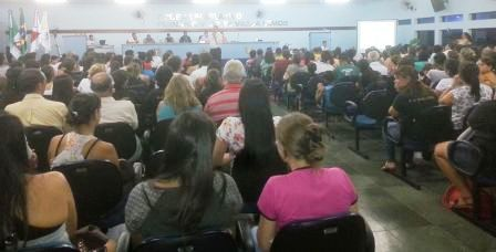Audiência Pública realizada para discutir o futuro do saneamento básico municipal. Foto: Divulgação PMA