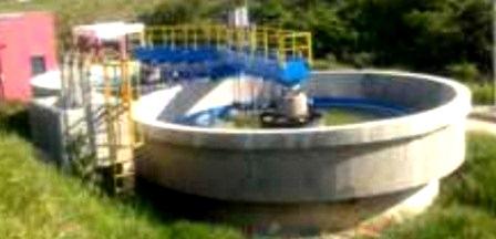 Parte do complexo de esgotamento sanitário realizado com recursos da Funasa
